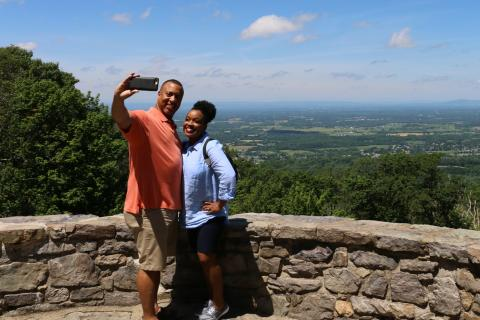 Couple taking a selfie while visiting Western Maryland