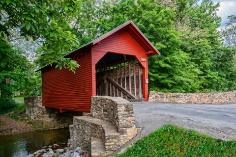 Roddy Road Red Covered Bridge in Thurmont.