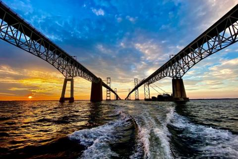 Chesapeake Bay Bridge at sunrise