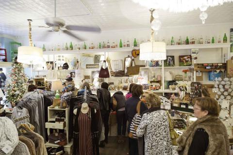 People Enjoy Shopping on Main Street in Ellicott City