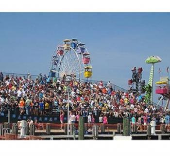 People enjoying the National Hard Crab Derby Photo