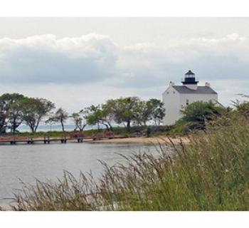 St. Clement's Island and the Blackistone Lighthouse. Photo