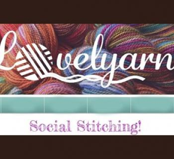 Lovely Yarns Social Stitching poster Photo