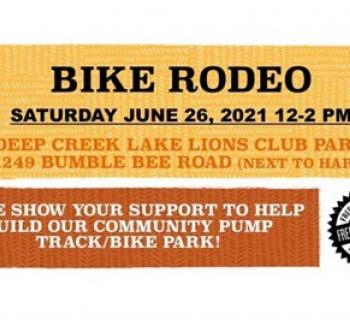 Bike Rodeo poster with June 26th date Photo