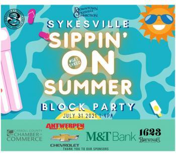 Sykesville Sippin' On Summer graphic Photo
