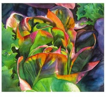 This and other watercolor images on display at the Liriodendron  Photo