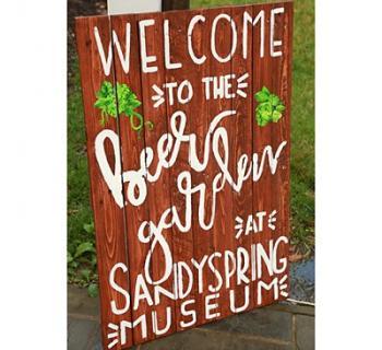 Summer Beer & Wine Garden wooden sign Photo