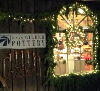 Join us for our annual Holiday Open House at van Gilder Pottery! Photo