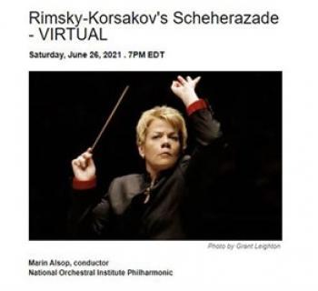 Marin Alsop conducting Photo