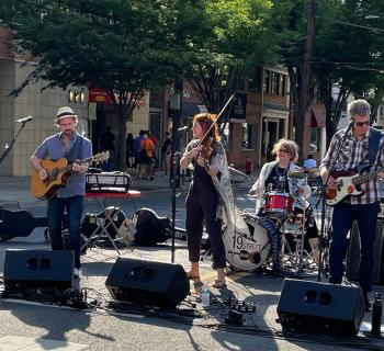 The 19th Street Band at the Bethesda Streetery  Photo