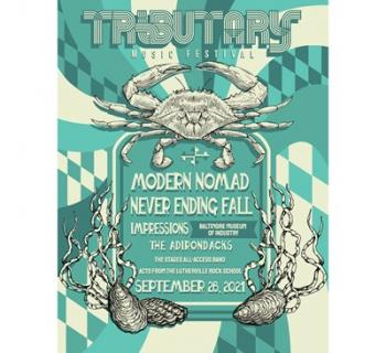 The lineup/poster for the Tributary Festival.  Photo