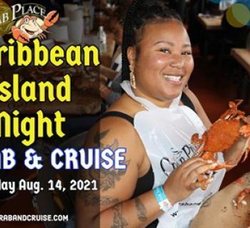 Woman enjoying the Crab & Cruise Photo