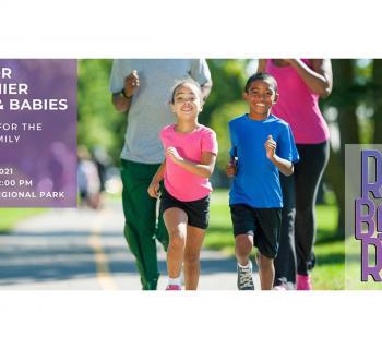 RunBabyRun 5k poster with family running Photo