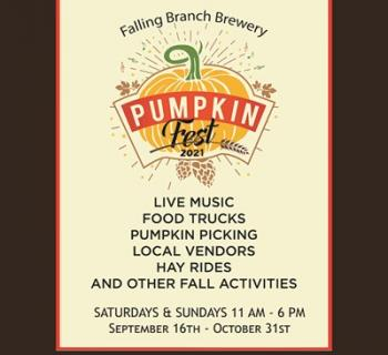 Pumpkin Fest at Falling Branch Brewery flyer listing some activities Photo