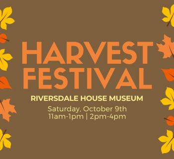 Harvest Festival poster with brown background and pumpkin and red leaves Photo