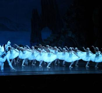 Russian National Ballet performs on stage. Photo