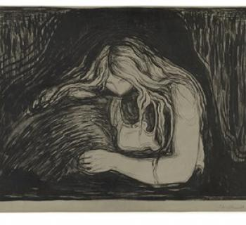 Edvard Munch. Vampire. Photo