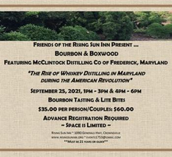 Event flyer in the form of an invitation to Bourbon and Boxwood event Photo