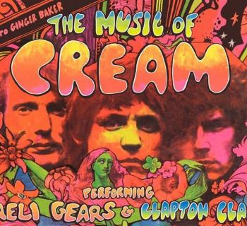 The Music of Cream poster art in bright psychedelic colors Photo