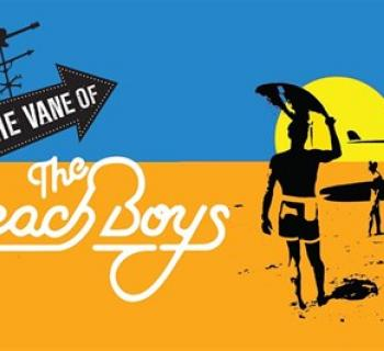 In The Vane Of... The Beach Boys poster art with beach, sky and sun Photo