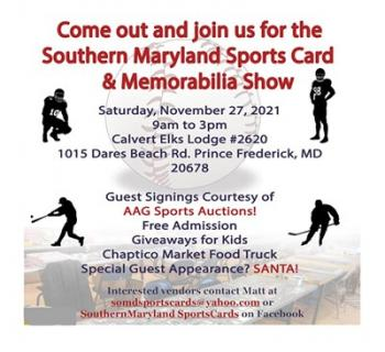 Southern Maryland Sports Card and Memorabilia Show event details Photo