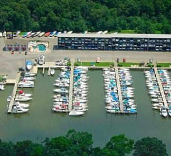 Aerial view of Chesapeake Yachting Center Photo