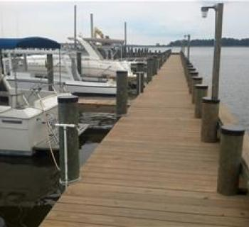 Slips at Choptank Marina. Photo