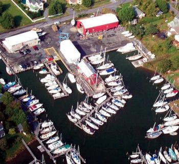 Overhead view of Hinckley Yacht Services Photo