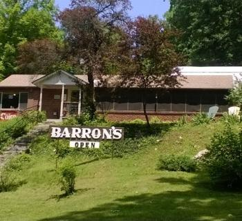 Barron's sits along the C and O Canal and invites hikers and bikers inside. Photo