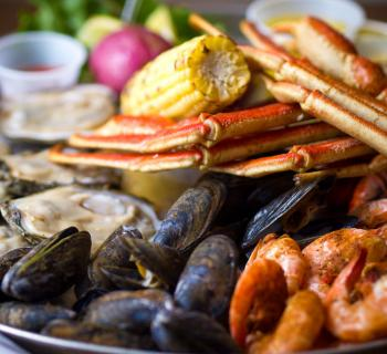 Seafood platter Photo