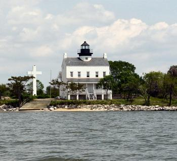 Blackistone Lighthouse at St. Clement's Island State Park Photo