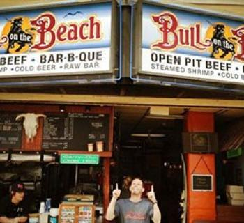 Bull on the Beach-2nd Street Photo