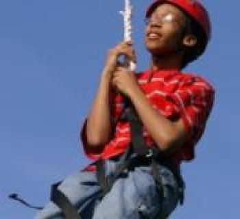 Rope climbing at Upward Enterprises Photo