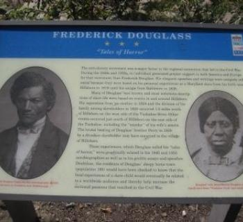 "Frederick Douglass Civil War Trail Marker ""Tales of Horror"" Photo"