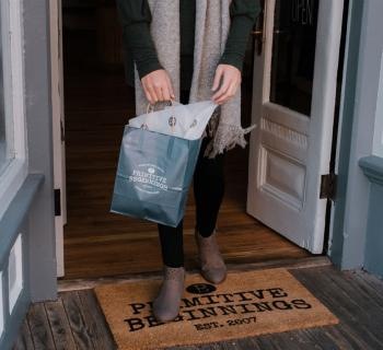 Primitive Beginnings shopping bag Photo
