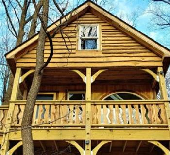 Treehouse from Treehouse Camp at Maple Free Campground Photo