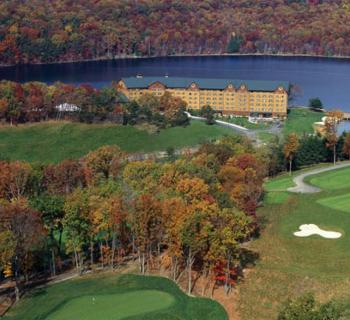 Overhead view of the Rocky Gap Lodge and Golf Course Photo