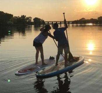 Stand up paddleboarding Photo
