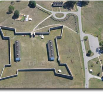 Aerial view of Fort Frederick State Park Photo