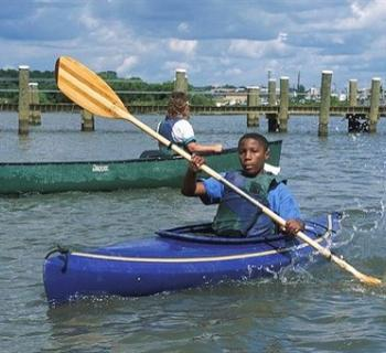 Boy in a kayak Photo