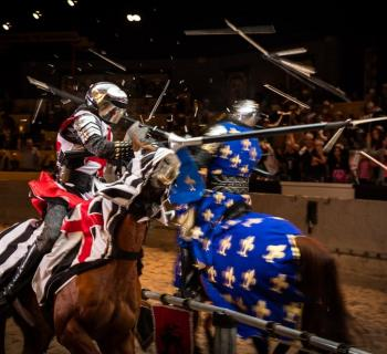 Medieval Times Dinner and Tournament knights battle Photo