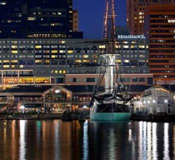 Renaissance Baltimore Harborplace Hotel exterior view across Harbor Photo