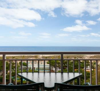Holiday Inn Oceanfront balcony view Photo