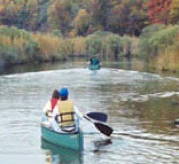 Guided canoe trip at American Chestnut Land Trust Photo