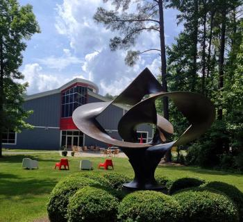 A sculpture from the Annmarie Sculpture Garden & Arts Center Photo