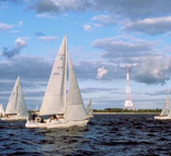 Sailboats on the Bay. Photo