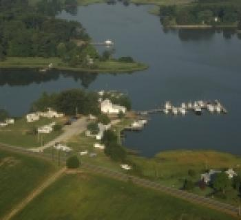 Drury's Marina Fishing Center aerial view Photo