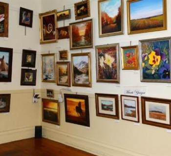 Art on display at the Mansion House Art Gallery Photo