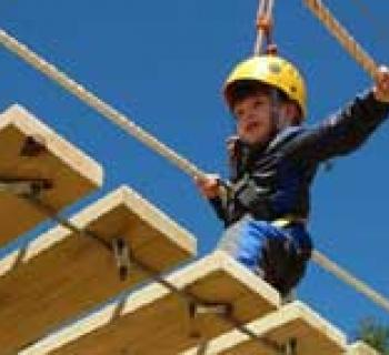 Child on Chipmunk Challenge Course Photo