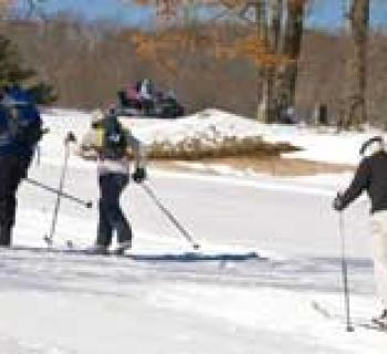 Skiing at the Nordic Center Photo